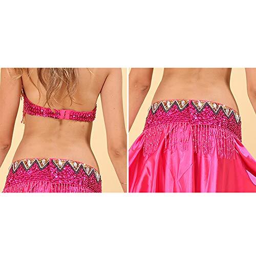 Chiffon Rosa Abbigliamento Solido Gonne Colore Vestito Reggiseno Nazionale DonneDanza Di Ballo Ventre Indiano Del Costume Daytwork Carnevale pMzGVqSU
