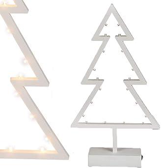Tannenbaum Weiss Led.Bada Bing Led Tischleuchte Tannenbaum Weiß Batteriebetrieb Warmweiß