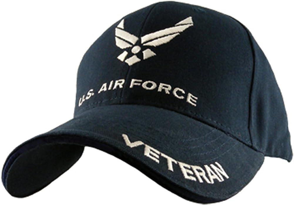 Eagle Crest U.S. Air Force Veteran Cap, Navy Blue, Adjustable