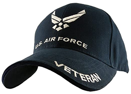 f732243ea975b Eagle Crest US Air Force Veteran Cap, Navy Blue, Adjustable