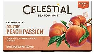 Celestial Seasonings Country Peach Passion Herbal Tea, 20 Count (Pack of 6)