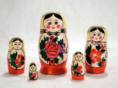 (Semenov Russian Nesting Doll 5pc./4