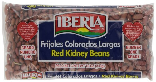 Iberia World Foods Beans, Kidney, Lt Red, Dry, 12-Ounce (Pack of 24) by Iberia