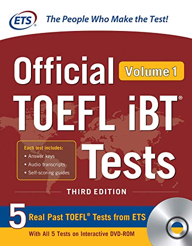 - Official TOEFL iBT Tests Volume 1, Third Edition
