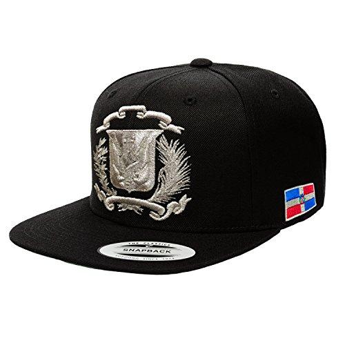 Peligro Sports Dominican Republic Hat Snapback  Black Silver