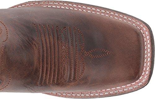 Ariat Kvinners Krets Shiloh Arbeid Boot, Sjokolade Øgle Print, 6 B Oss Forvitret Brun / Risikabelt Rød