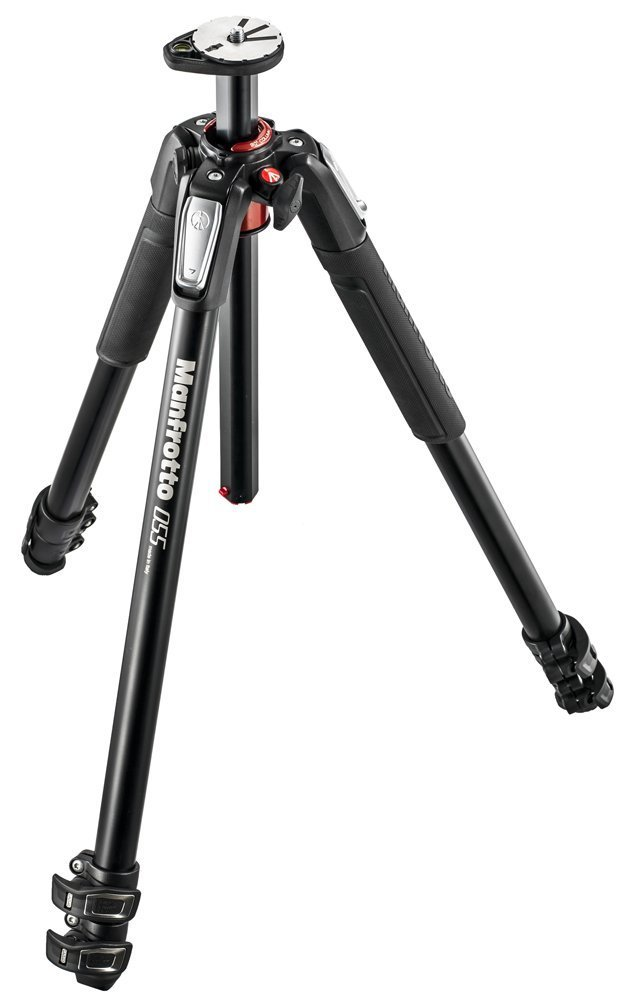 Manfrotto NEW MT055XPRO3 055 Aluminium 3-Section Tripod with Horizontal Column (Black) With A Bonus Zaykir Strap by Manfrotto (Image #1)