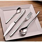 Cutlery , Home Use Stainless Steel Western Tableware, 4-Piece Dinnerware Set knife fork spoon teaspoon by Alytimes