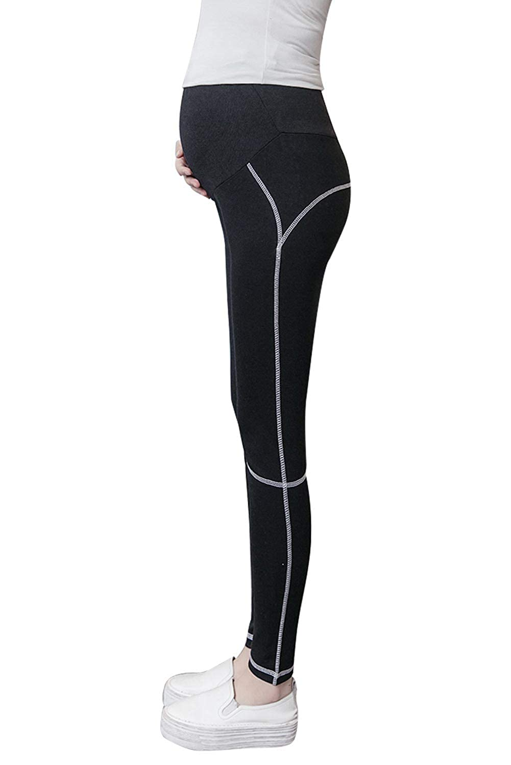 aa85eae93f900 Maternity Workout Leggings Yoga Pants Over Belly High Waist for Pregnant  Women at Amazon Women's Clothing store: