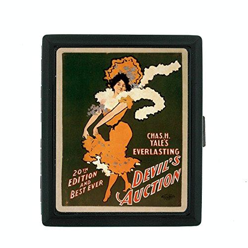 Auction Poster Vintage - Metal Cigarette Case Vintage Poster D-114 Devil's Auction Yale's Everlasting