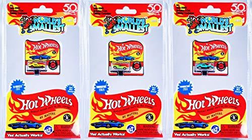 [해외]Worlds Smallest Series 4 Set of 3 Mini Cars - 1969 Turbofire - 2011 Twinduction - 2015 D-Muscle / Worlds Smallest Series 4 Set of 3 Mini Cars - 1969 Turbofire - 2011 Twinduction - 2015 D-Muscle