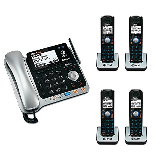 AT&T TL86109 DECT 6.0 2-line Bluetooth Cord/Cordless Phone S