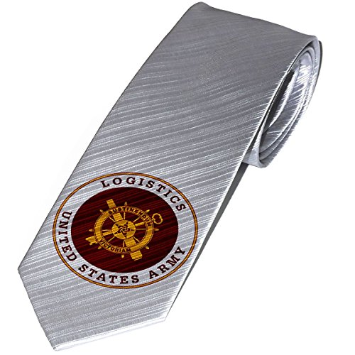 Necktie   Tie With U S  Army Logistics  Branch Plaque