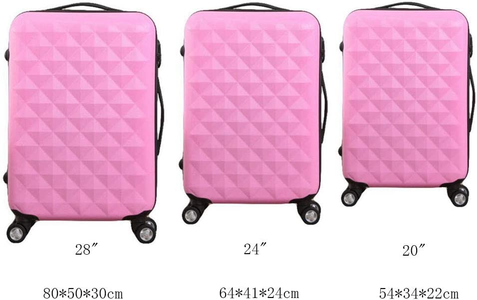 LIYUHAO Trolley Case-Silent Universal Wheel-Anti-Theft-ABS Material Suitcase-Wearable Waterproof and Shockproof Suitcase,Pink,28in