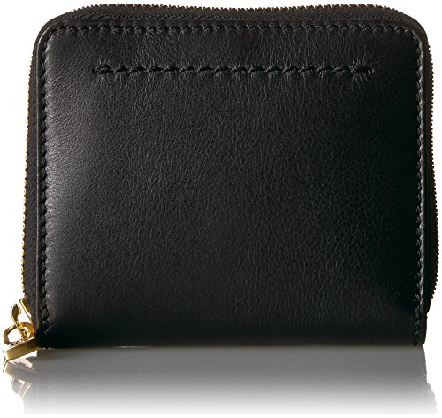 e Small Zip Wallet, Black, One Size ()