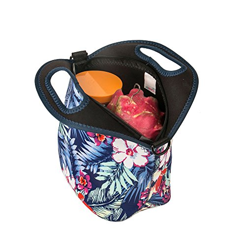yipinu lunch bags for women insulated neoprene cool bag cooler picnic lunch box handbag adults. Black Bedroom Furniture Sets. Home Design Ideas