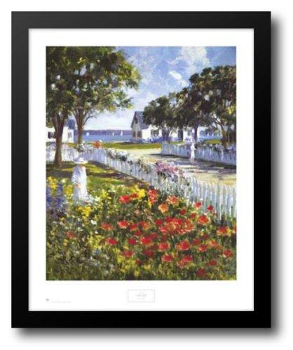 Ray Ellis Harbor - Harbor Garden 26x31 Framed Art Print by Ellis, Ray