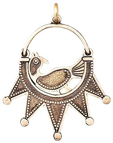 Men's Women's Magi's magic Metal Pendant 'Partridge'. Bronze. Amulet of family protection