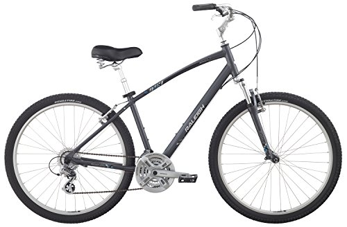 "Raleigh Bikes Venture 4.0 Comfort Bike, 15"" /Sm, Pewter, 15"" / Small"