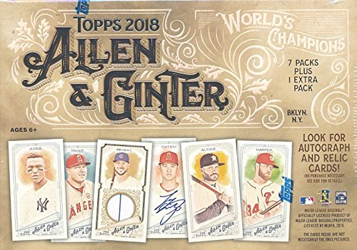 2018 Topps Allen & Ginter MLB Baseball EXCLUSIVE Factory Sealed Retail Box!  Look Auto's of Shohei Ohtani, Chris Hemsworth,Mike Trout, Derek Jeter,Bo Jackson & More! 1 Mini Card in Every Pack! WOWZZER