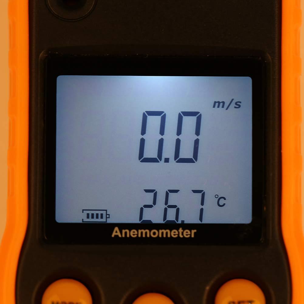 bureau Gm818 Lcd Digital An/émom/ètre An/émom/ètre de poche Testeur de vitesse de lair pour la mesure de la vitesse de lair de la maison voiture etc. An/émom/ètre climatisation