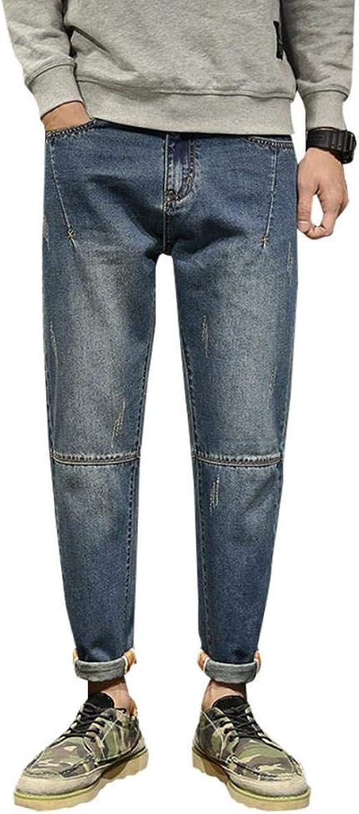 SCILLO ジーンズ Gパン メンズ デニム ズボン ロングパンツ デニムパンツ テーパードパンツ ワイド ジーパン ストレート 大きいサイズ ジーパン ゆったり カジュアル 体型カバー