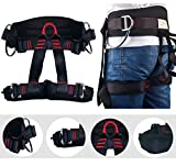 Enhanced Version Climbing Half Body Harness Waistbelt Wider Safe Seat Belts For Fire Rescue Higher Level Rescue Caving Rock Climbing Rappelling Equip