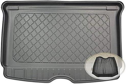 Zentimex Z3294079 Gummierte Kofferraumwanne Fahrzeugspezifisch Klett Organizer Laderaumwanne Kofferraummatte Auto