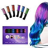 #3: Ameauty Temporary Washable Hair Color Comb - Built in Sealant Non-Toxic and Safe for Kids, Party, Cosplay and DIY (6 popular Colors)