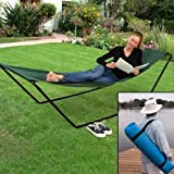 Portable Foldaway Hammock With Stand And Carry Bag