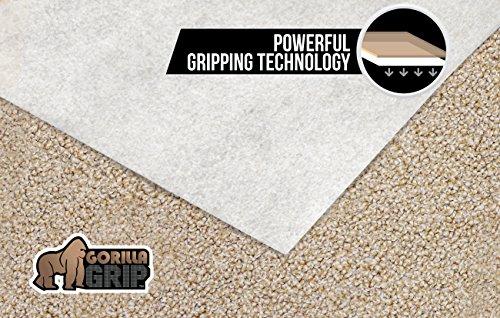 Gorilla Grip 4x6 Feet Non Slip Area Rug Pad For Carpet