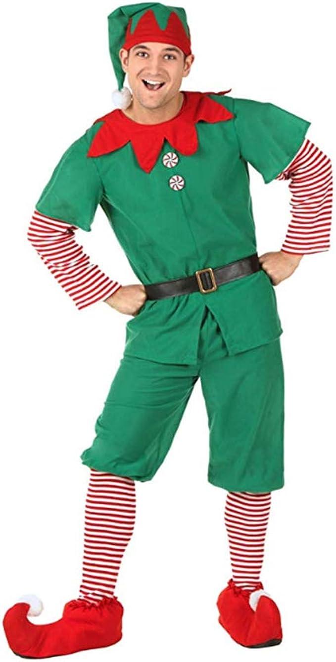 Disfraz de Duende navideño para niño y Adulto Vestido de Duende de ...