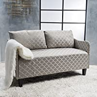Aurelia Grey Pattern Fabric Loveseat