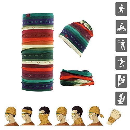 M.JVisun Sports Outdoors Headband Versatile Casual Headwear - Magic Scarf Bandana Mask Sweatband Neck Gaiter Balaclava Wristband Foulard for Men Women Running Cycling Parkour Climbing (Tribal)