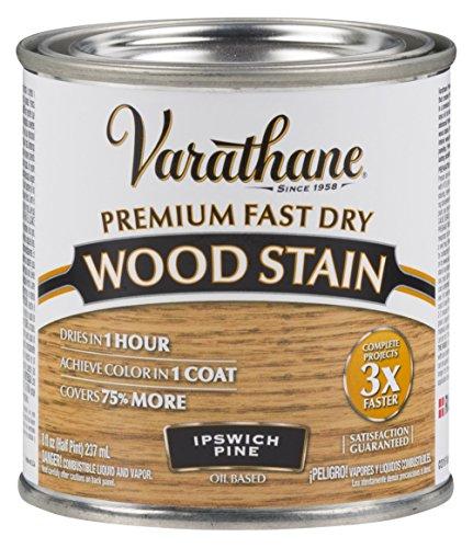 Varathane 262031 Premium Fast Dry Wood Stain, 1/2 Pint, Ipswich Pine
