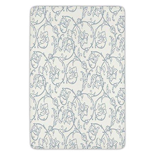 Cheap  Bathroom Bath Rug Kitchen Floor Mat Carpet,Floral,Flower Orchids Bohemian Style Vintage Petals..