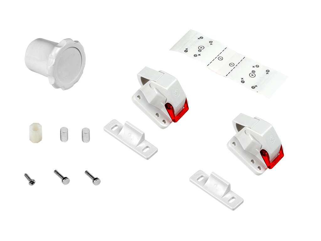 Emuca 8929420 Magnetic Baby Proofing Safety Locks for Drawer/Cabinet/Cupboard/Wardrobe - White