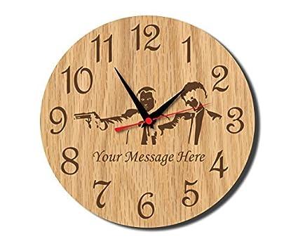 Amazon.com: Gangster Rustic Wooden Wall Clock Decorative Vintage ...