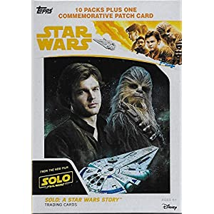 2018 Topps Solo A Star Wars Story Factory Sealed Blaster Box of Packs including One EXCLUSIVE Commemorative Patch Card