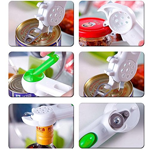 JD Million shop Practical Multi-Function Bottle+Can+Jar Opener,7 in 1 Kitchen cooking Tools,Beer