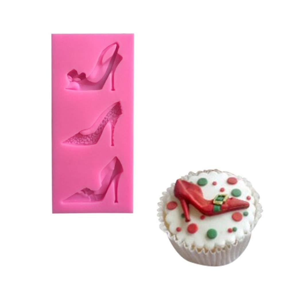 per Fondente wanshop  /® ❤️Spedizione Gratuita ❤️Stampo in Silicone a Forma di Tacchi Alti Rosa Decorazioni Torte Stampo per Torte Fiaba Scarpe da Principessa