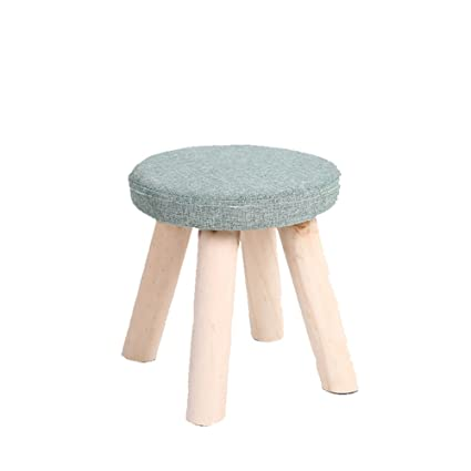 Amazon.com: stool Small Wood Home Small Chair For Shoes ...