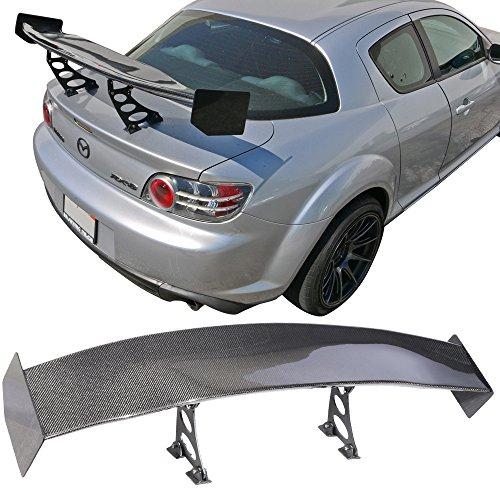 56 In V4 Universal Adjustable Downforce GT Trunk Spoiler Wing - Carbon Fiber CF