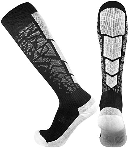 - Elite Performance Athletic Socks - Over The Calf (Small, Black)