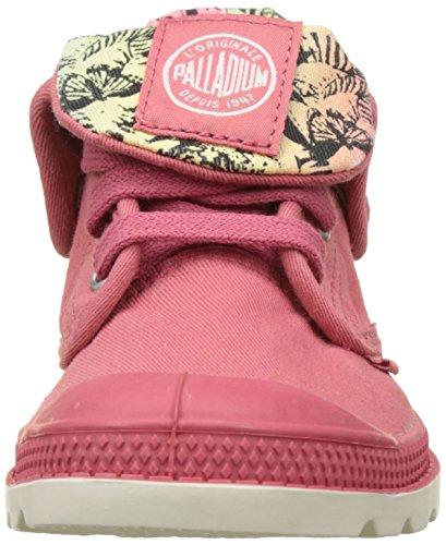 Palladium Unisex-Kinder Baggy Low Zip LP Sneaker Pink (Garnet Rose/Jungle Print)