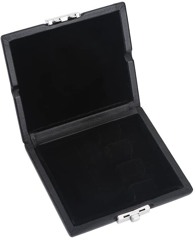 Tbest Bassoon Reeds Case PU Leather Cover Black Bassoon Reed Container Box Case with Slots for 3pcs Reeds