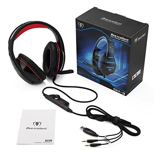 PS4 Headset, PS4 Headphones, PC Gaming Headset with LED light, Over-ear Professinal Gaming Headphones with Mic 3.5mm, Christmas Gifts, Noise Reduction Bass Headsets for PC, Laptops, Tablets. by IMMOSO (Image #5)