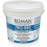 Roman 012401 PRO-880 Ultra Clear Adhesive, 1 gal by Roman