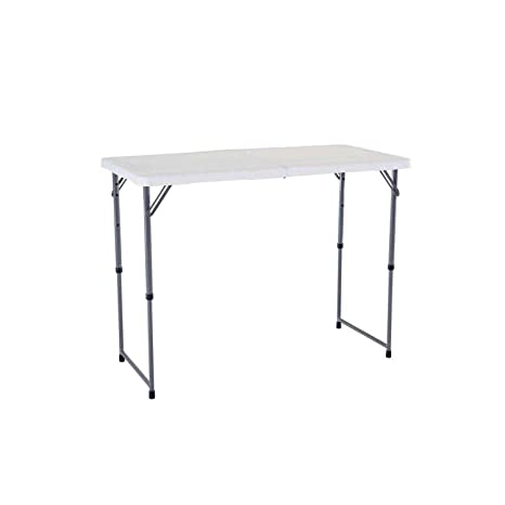 Amazon.com: 4 ft de por vida. Mesa Ajustable fold-in-half ...