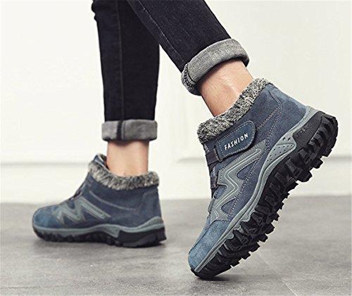 Baskets Chaussures Randonnée adulte de Bleu Hiver mode Femme Neige hiver mixte homme Botte Botte Baskets Chaudement skateboard z76OqO